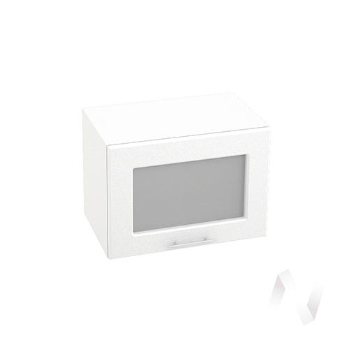 """Кухня """"Вега"""": Шкаф верхний горизонтальный со стеклом 500, ШВГС 500 (белый металлик/корпус белый)"""