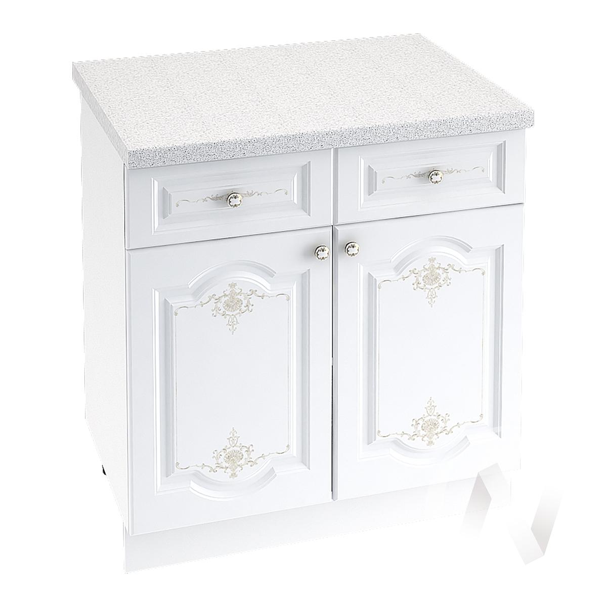 """Кухня """"Шарлиз"""": Шкаф нижний с ящиками 800, ШН1Я 800 (корпус белый)"""