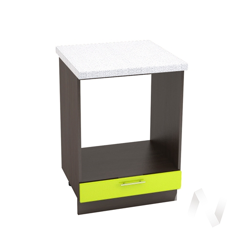 "Кухня ""Валерия-М"": Шкаф нижний под духовку 600, ШНД 600 (лайм глянец/корпус венге)"