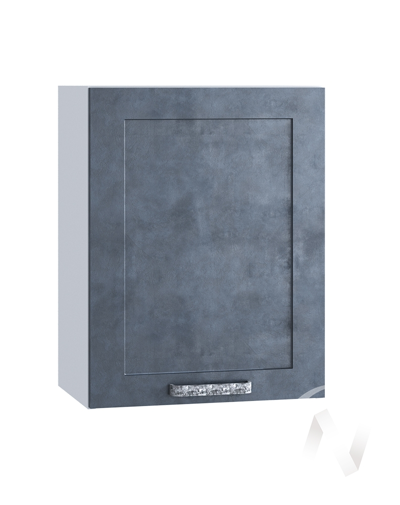 "Кухня ""Лофт"": Шкаф верхний 500, ШВ 500 (Бетон графит/корпус белый)"