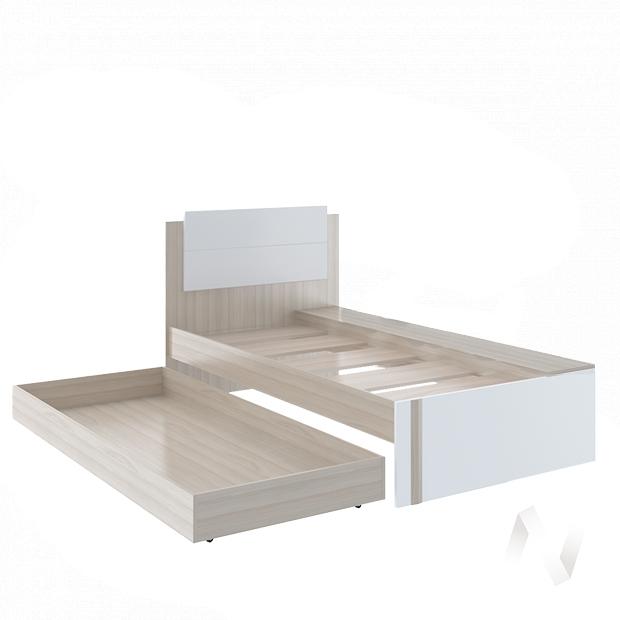 Walker М14 Кровать (ясень шимо светлый/белый)