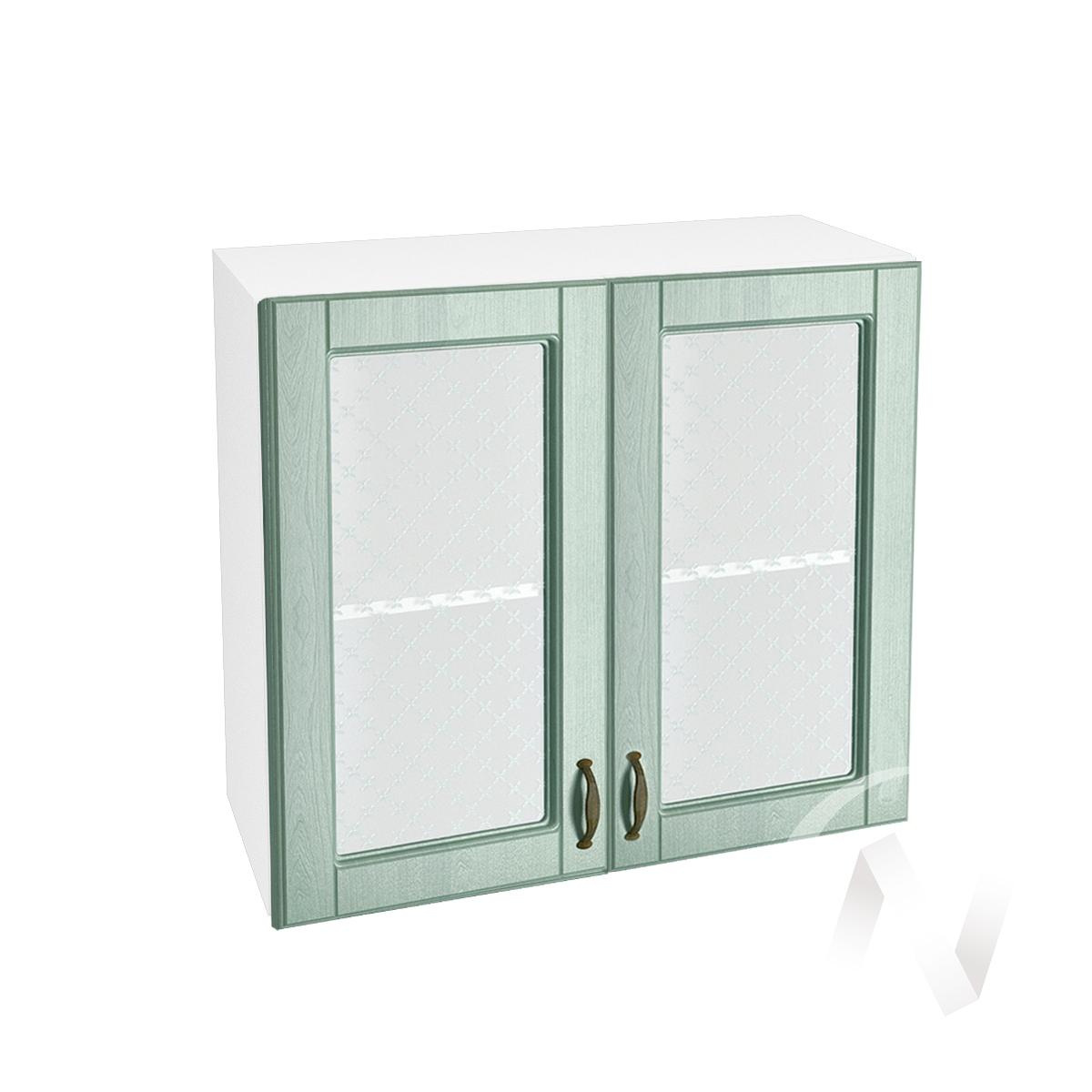 "Кухня ""Прованс"": Шкаф верхний со стеклом 800, ШВС 800 (корпус белый)"