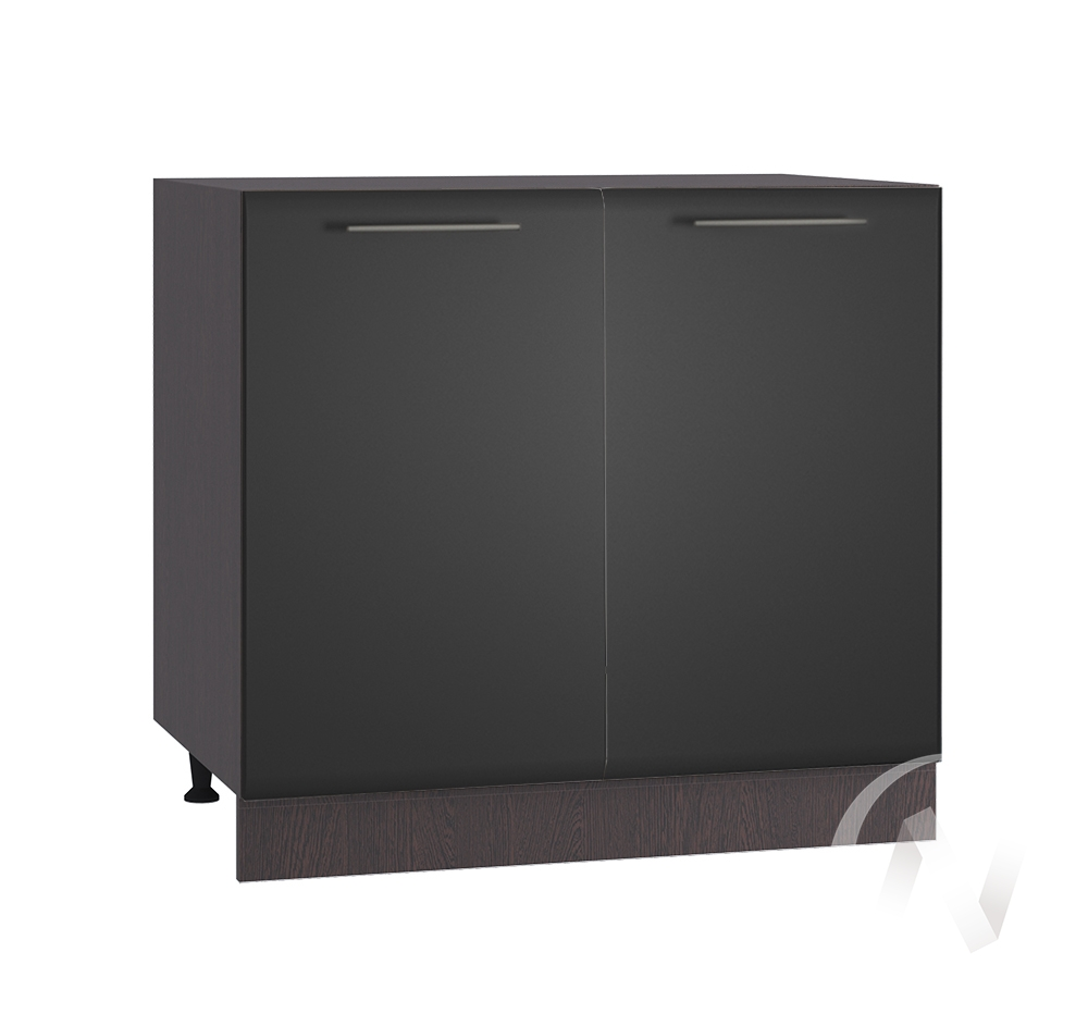 "Кухня ""Люкс"": Шкаф нижний 800, ШН 800 (Шелк венге/корпус венге)"