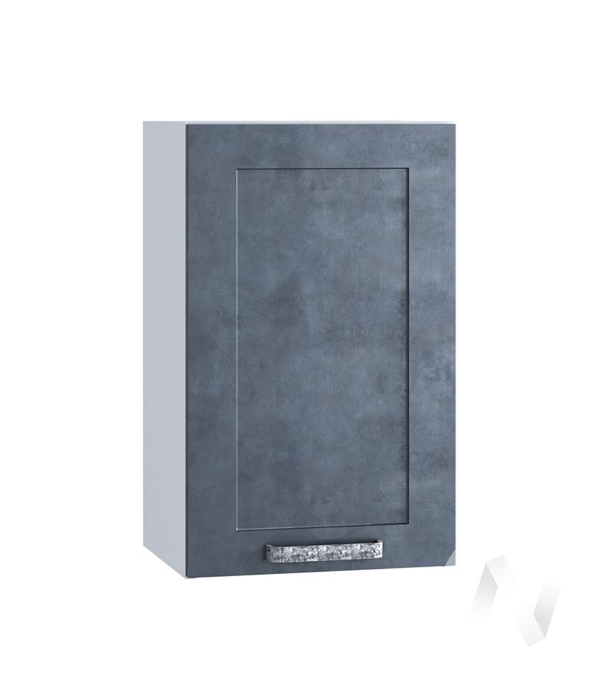 "Кухня ""Лофт"": Шкаф верхний 450, ШВ 450 (Бетон графит/корпус белый)"