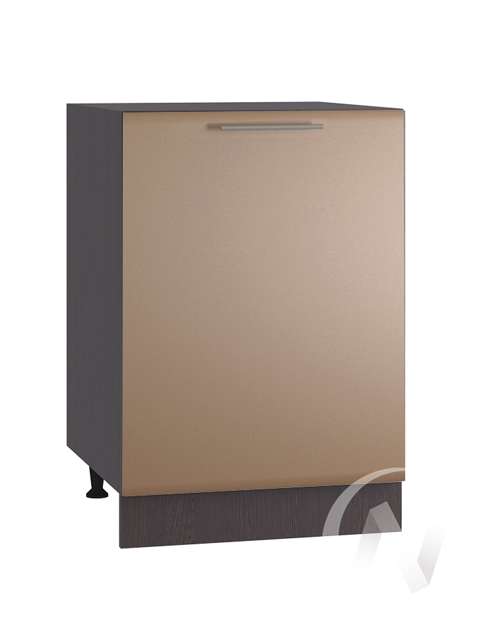 """Кухня """"Люкс"""": Шкаф нижний 500, ШН 500 (Шоколад матовый/корпус венге)"""