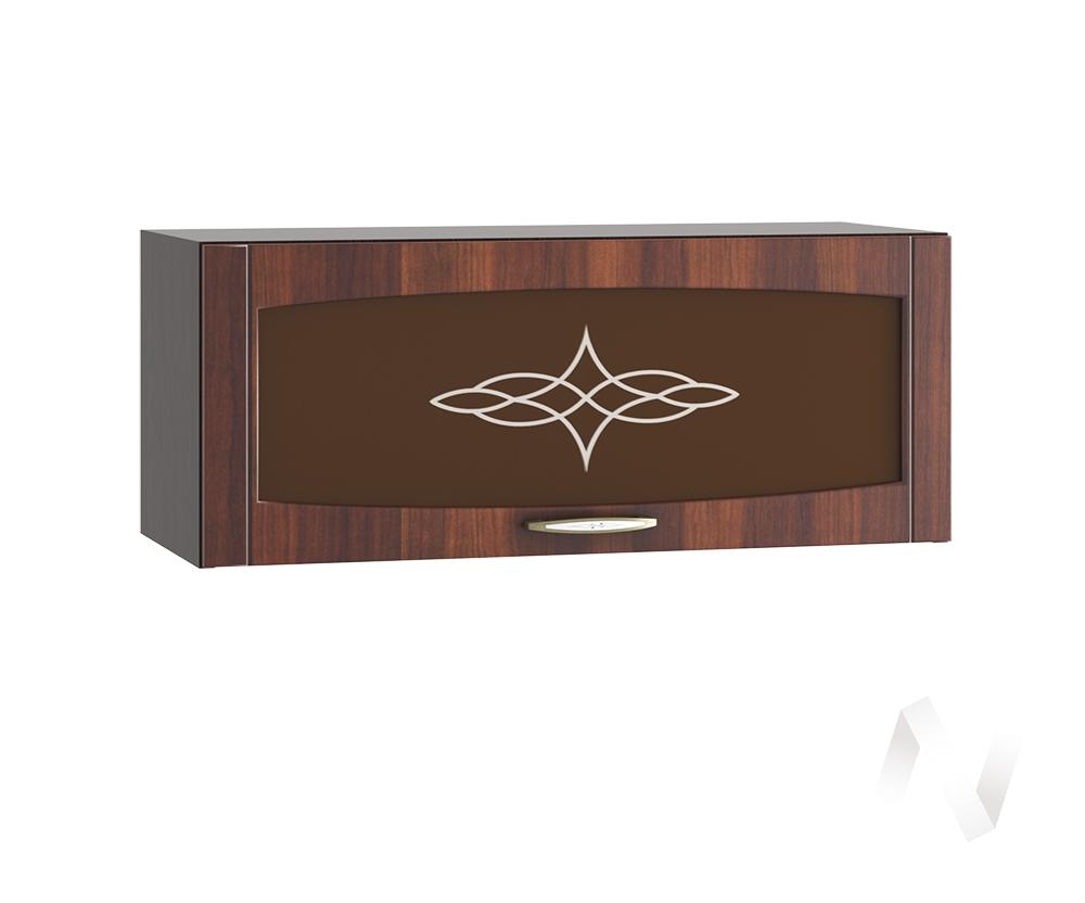 """Кухня """"Неаполь"""": Шкаф верхний горизонтальный со стеклом 800, ШВГС 800 (Италия/корпус венге)"""