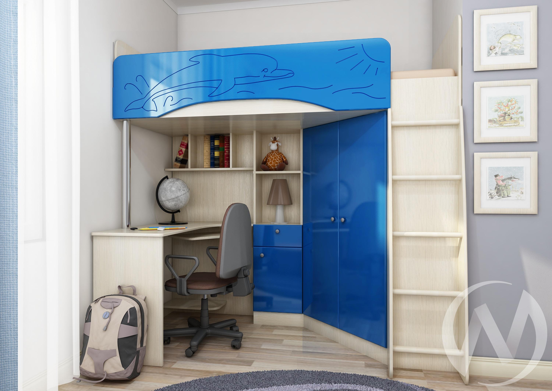 """Бемби-4М"" МДФ (голубой металлик)  | интернет магазин Парк Мебели в Новосибирске"
