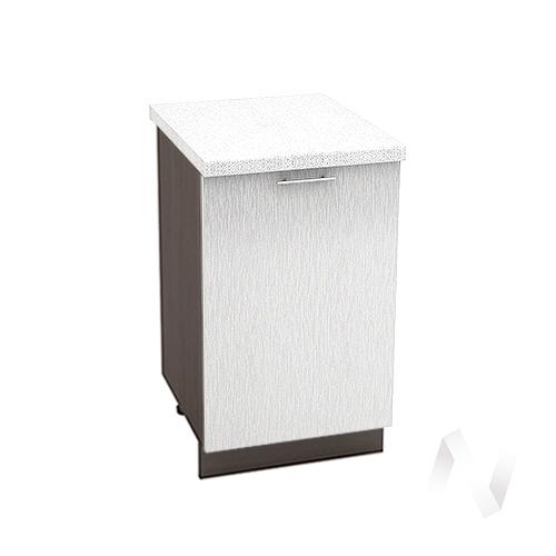 "Кухня ""Валерия-М"": Шкаф нижний 500, ШН 500 (дождь серый/корпус венге)"