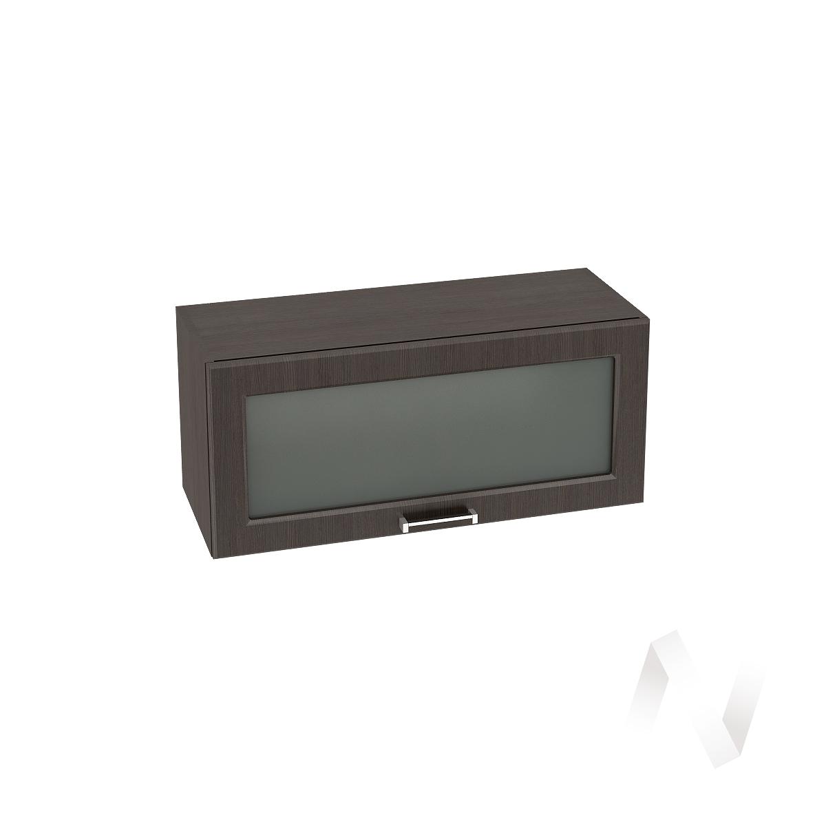 """Кухня """"Прага"""": Шкаф верхний горизонтальный со стеклом 800, ШВГС 800 (венге/корпус венге)"""