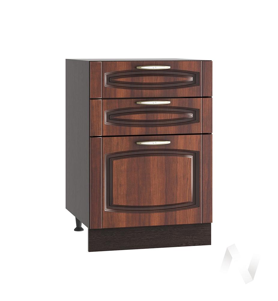 """Кухня """"Неаполь"""": Шкаф нижний с 3-мя ящиками 500, ШН3Я 500 (Италия/корпус венге)"""