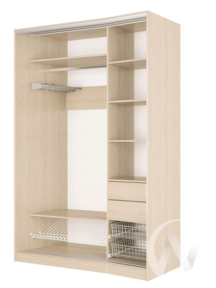 Шкаф-купе «Элвис» 2-х дверный тройной ЛДСП (дуб сонома/дуб мл.)  в Томске — интернет магазин МИРА-мебель