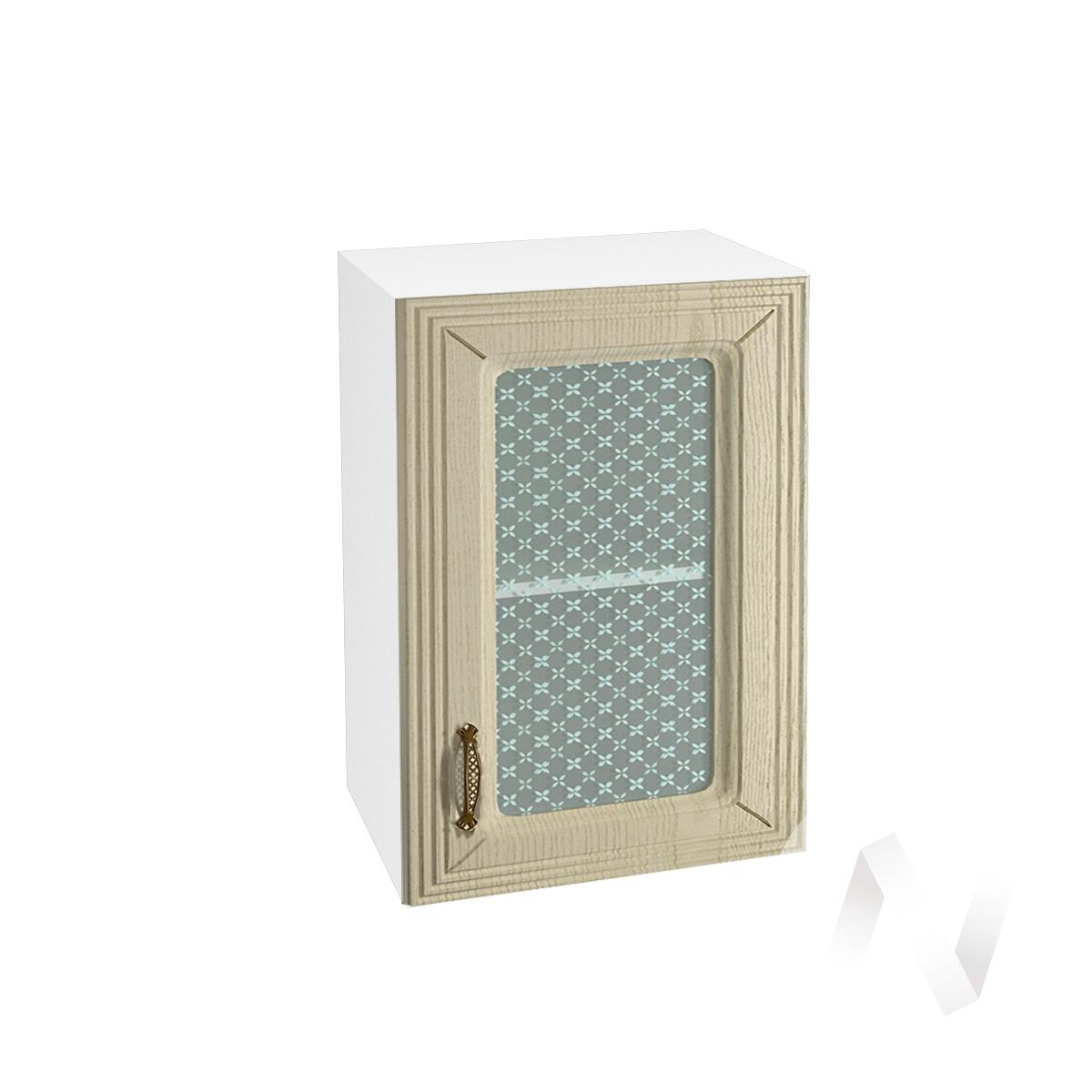 """Кухня """"Изабель"""": Шкаф верхний со стеклом 500, ШВС 500 (корпус белый)"""