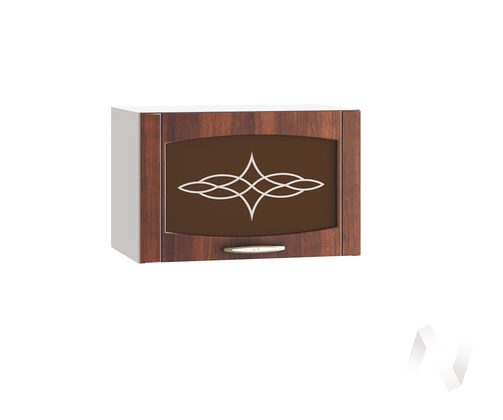 """Кухня """"Неаполь"""": Шкаф верхний горизонтальный со стеклом 500, ШВГС 500 (Италия/корпус белый)"""