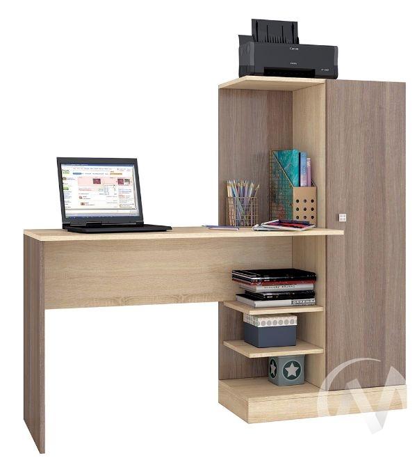 Стол компьютерный Квартет-6 (ясень шимо/дуб сонома)