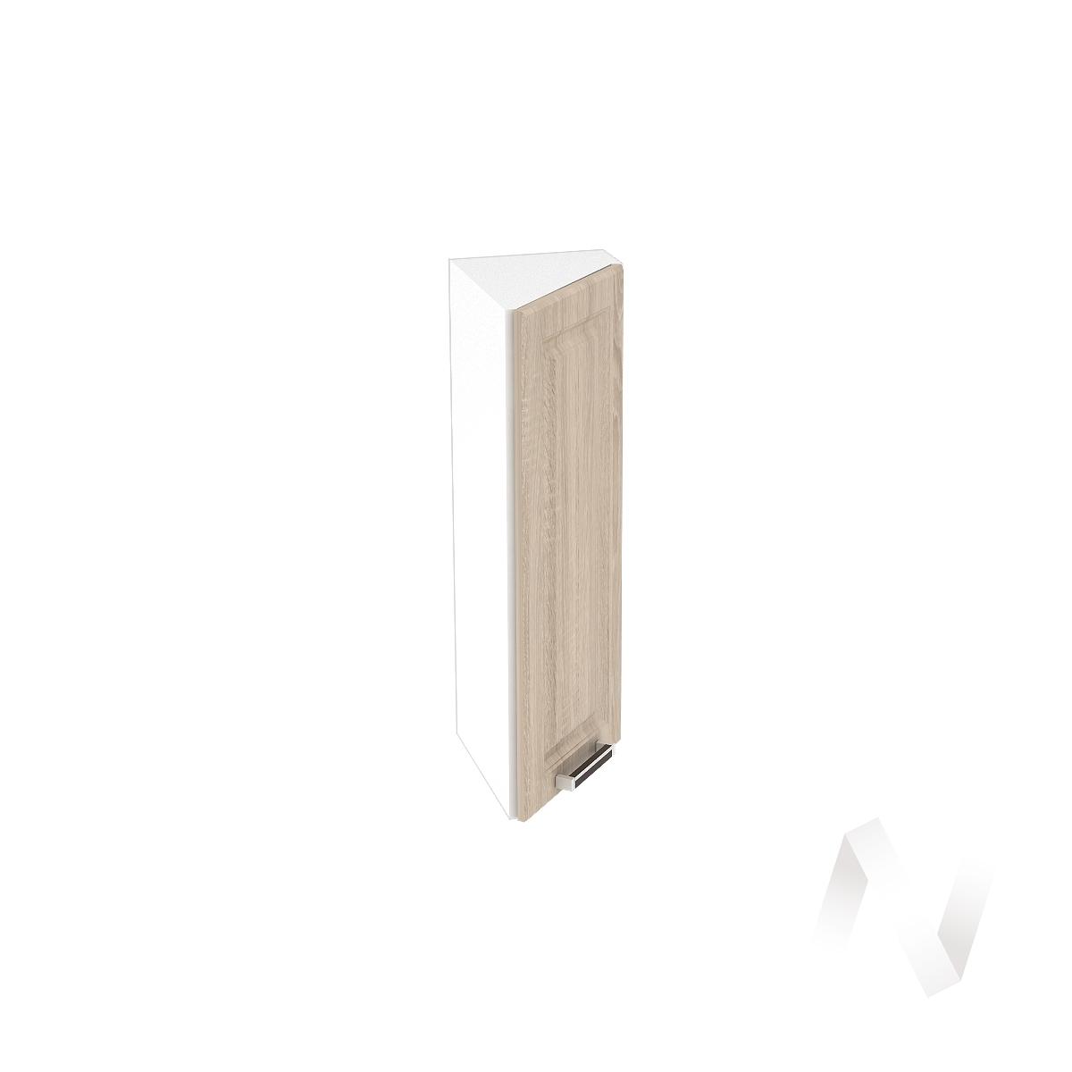 """Кухня """"Прага"""": Шкаф верхний торцевой 224, ШВТ 224 (дуб сонома/корпус белый)"""