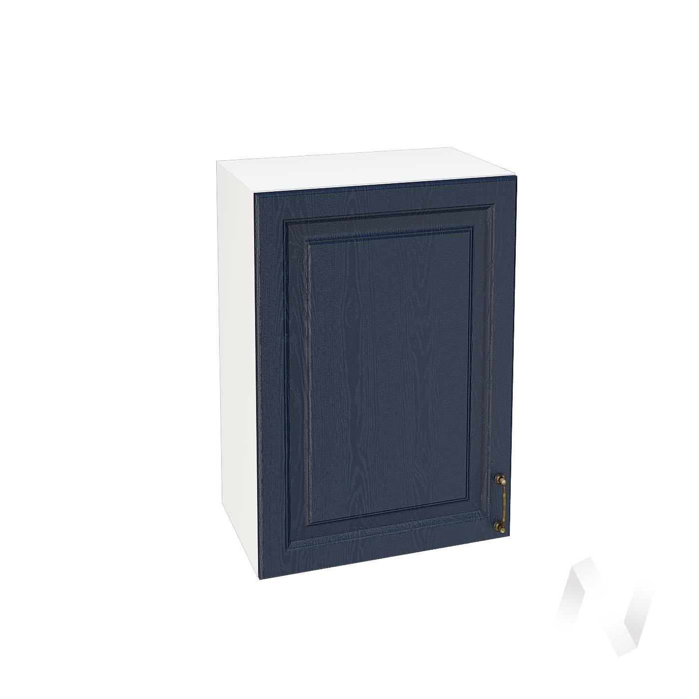 """Кухня """"Ницца"""": Шкаф верхний 500, ШВ 500 (Дуб чернильный/корпус белый)"""