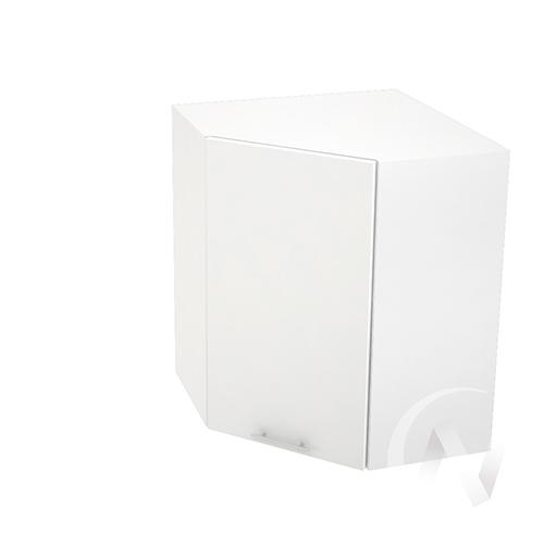 """Кухня """"Валерия-М"""": Шкаф верхний угловой 590, ШВУ 590 (белый металлик/корпус белый)"""