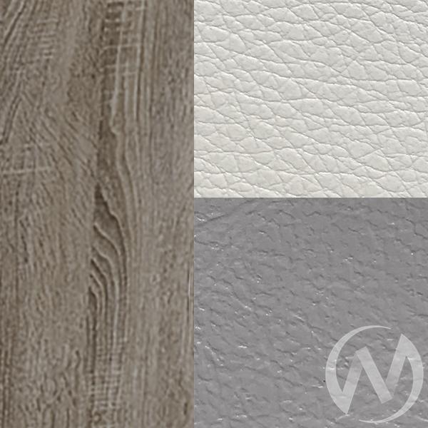 Кухонный уголок Уют 1 универсал мини кожзам (дуб сонома трюфель/серый,белый)  в Томске — интернет магазин МИРА-мебель