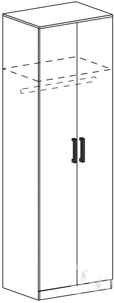 Шкаф скалка ШК 502М Гостиная Италия М (шимо темный/шимо светлый)