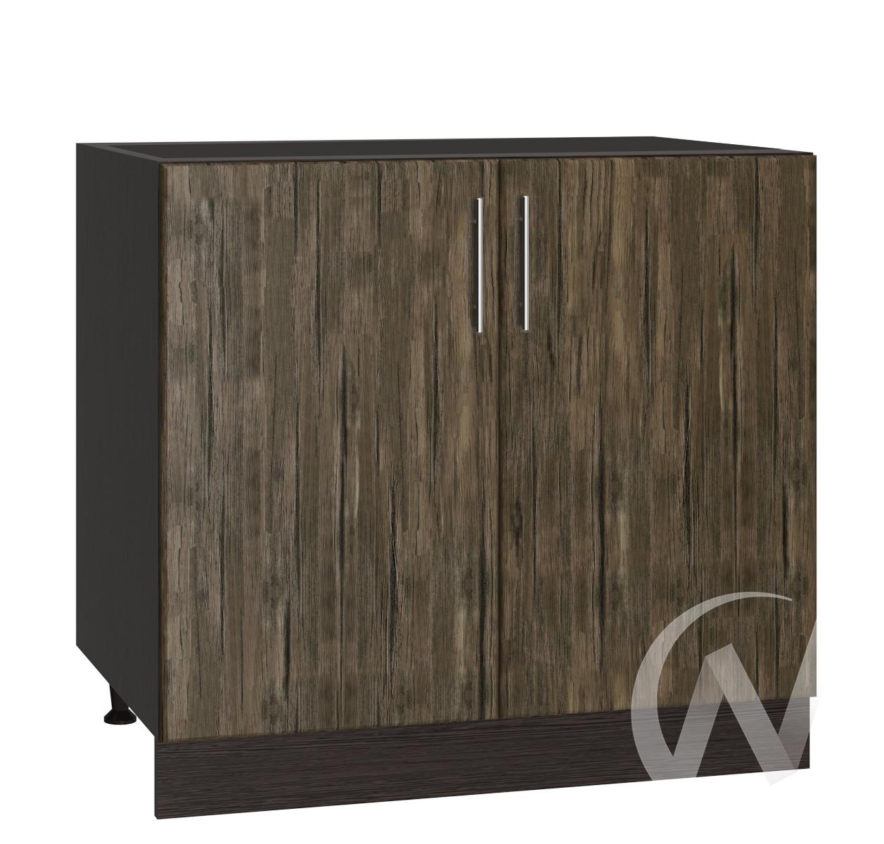 "Кухня ""Норден"": Шкаф нижний под мойку 800, ШНМ 800 (старое дерево/корпус венге)"