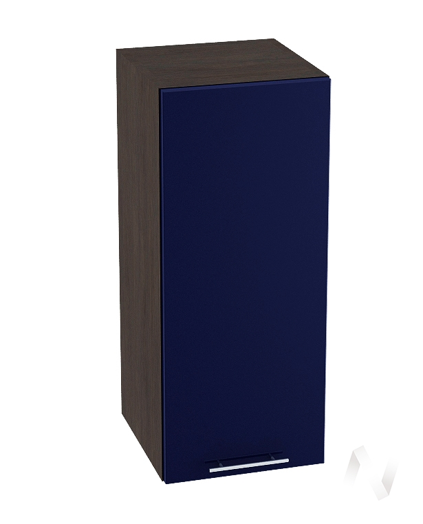 "Кухня ""Валерия-М"": Шкаф верхний 300, ШВ 300 (Синий глянец/корпус венге)"