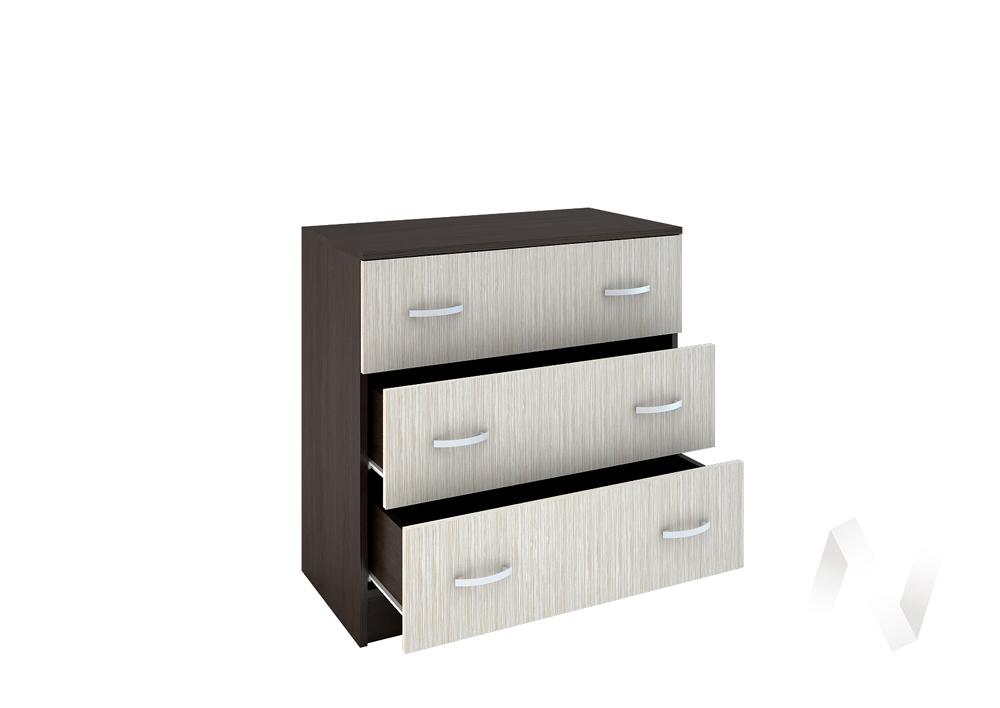 Бася Комод с 3-мя ящиками ЛДСП(венге/дуб бел) КМ 551  в Томске — интернет магазин МИРА-мебель