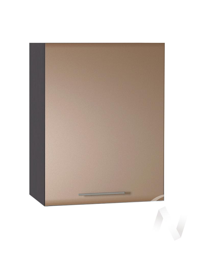 """Кухня """"Люкс"""": Шкаф верхний 500, ШВ 500 (Шоколад матовый/корпус венге)"""