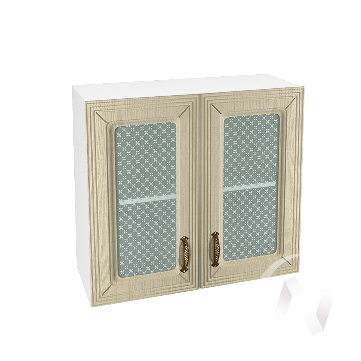 """Кухня """"Изабель"""": Шкаф верхний со стеклом 800, ШВС 800 (корпус белый)"""