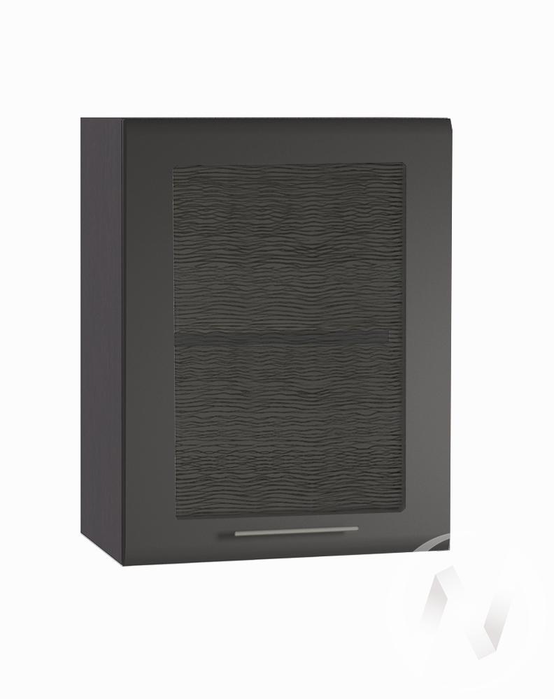 """Кухня """"Люкс"""": Шкаф верхний со стеклом 500, ШВС 500 (Шелк венге/корпус венге)"""