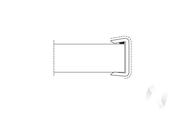 Профиль 100 мм торцевой ламинированный (венге)  в Томске — интернет магазин МИРА-мебель