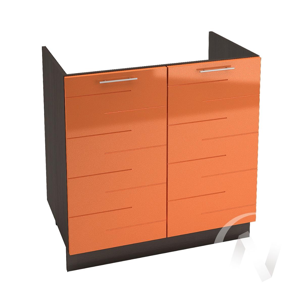 """Кухня """"Техно"""": Шкаф нижний под мойку 800, ШНМ 800 (корпус венге)"""