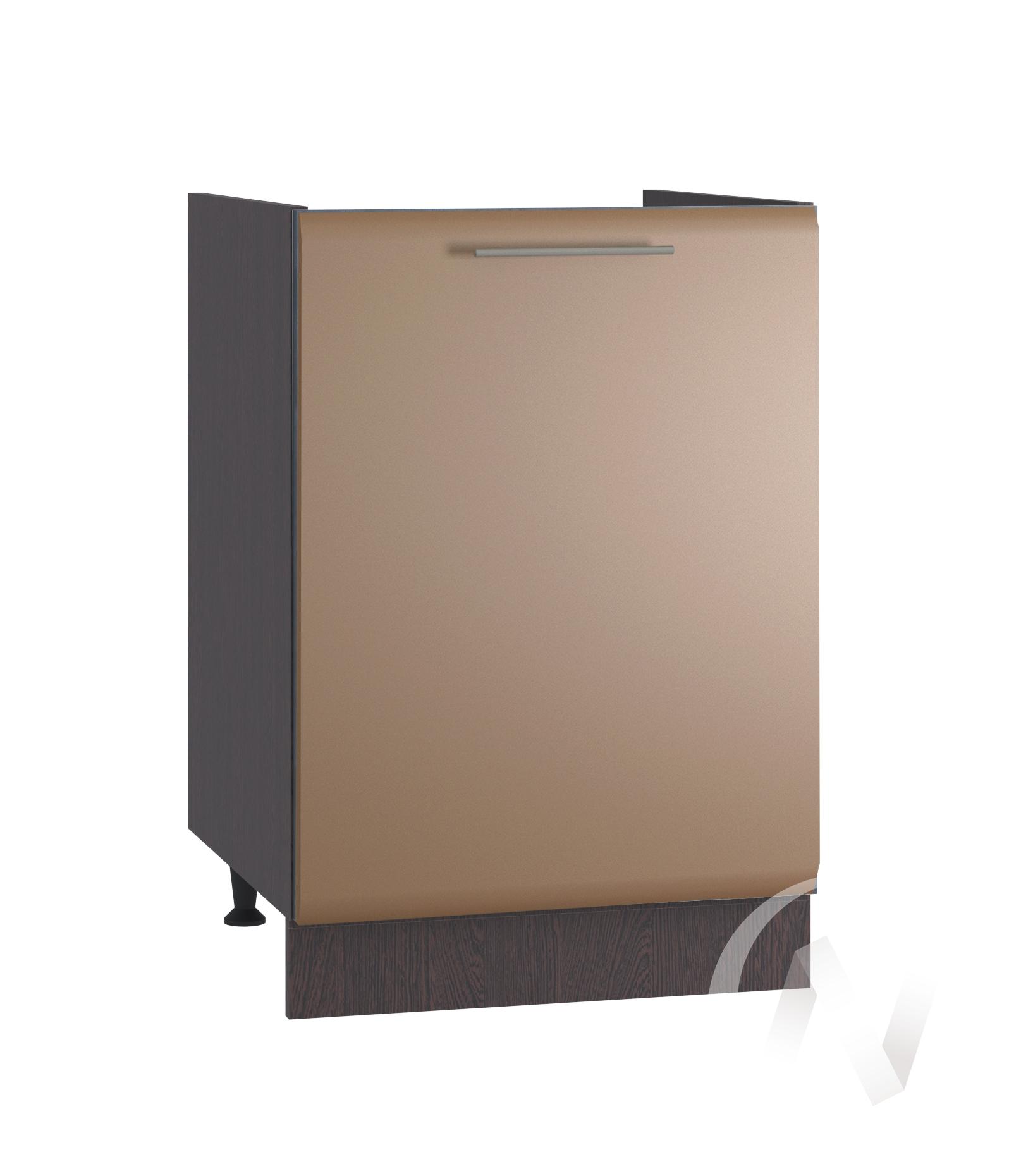 """Кухня """"Люкс"""": Шкаф нижний под мойку 500, ШНМ 500 (Шоколад матовый/корпус венге)"""