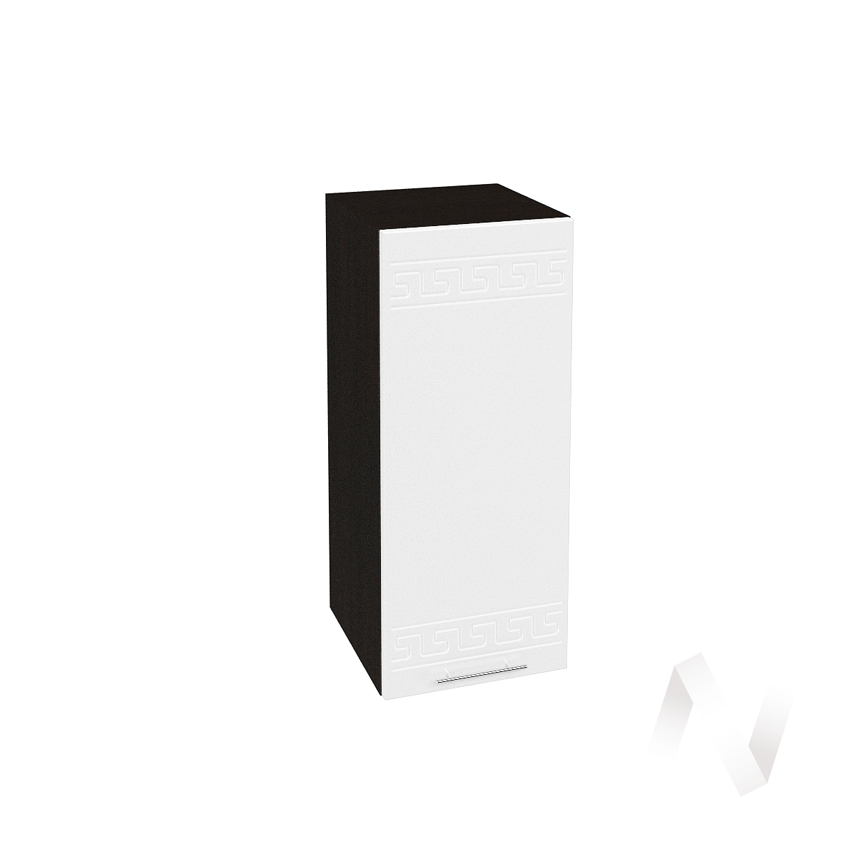 """Кухня """"Греция"""": Шкаф верхний 300, ШВ 300 (белый металлик/корпус венге)"""