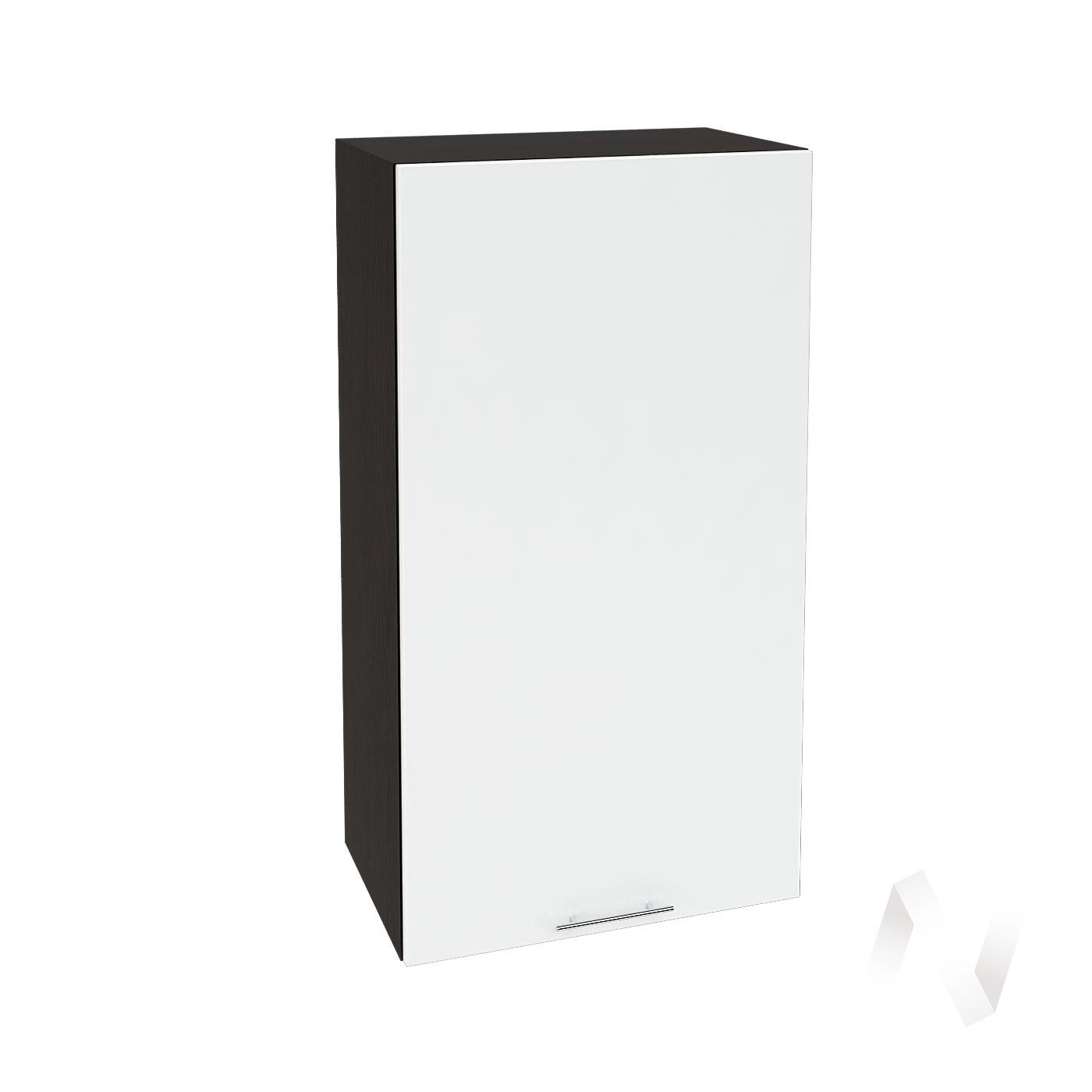 """Кухня """"Валерия-М"""": Шкаф верхний 509, ШВ 509 (белый глянец/корпус венге)"""