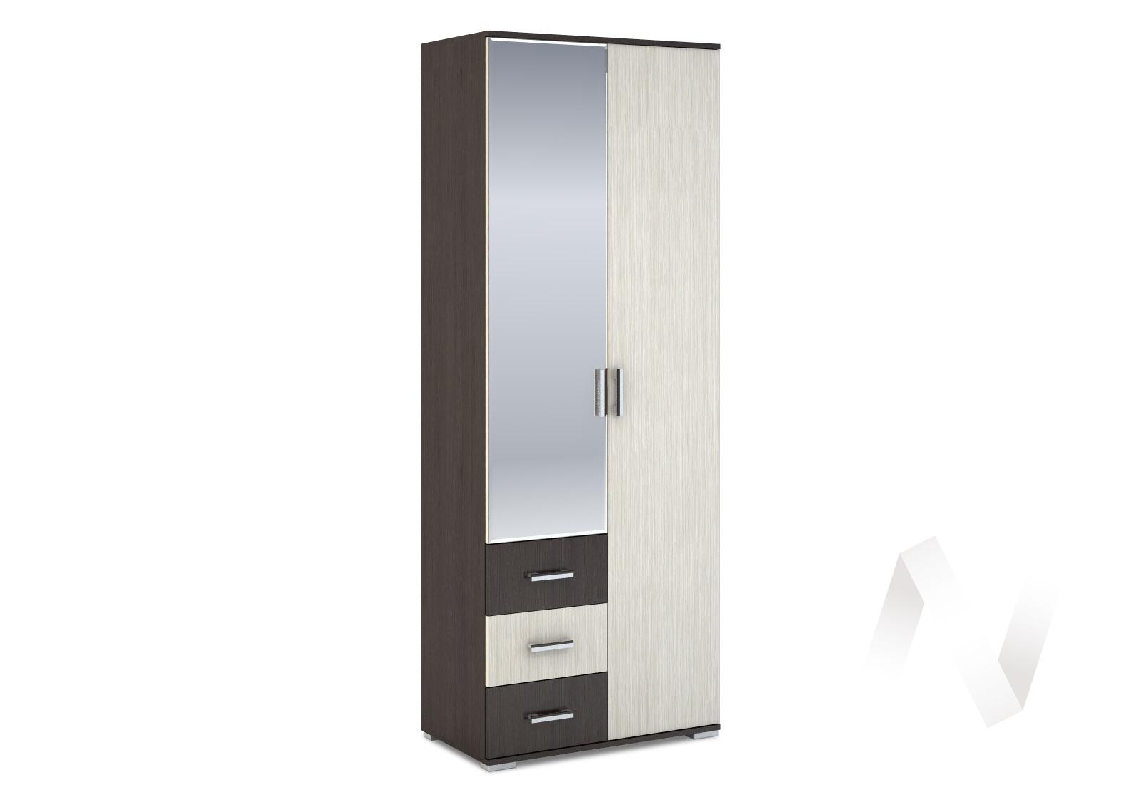 Шкаф 2-створчатый с ящиками 800 Рошель (венге/дуб белфорд) ШК-802