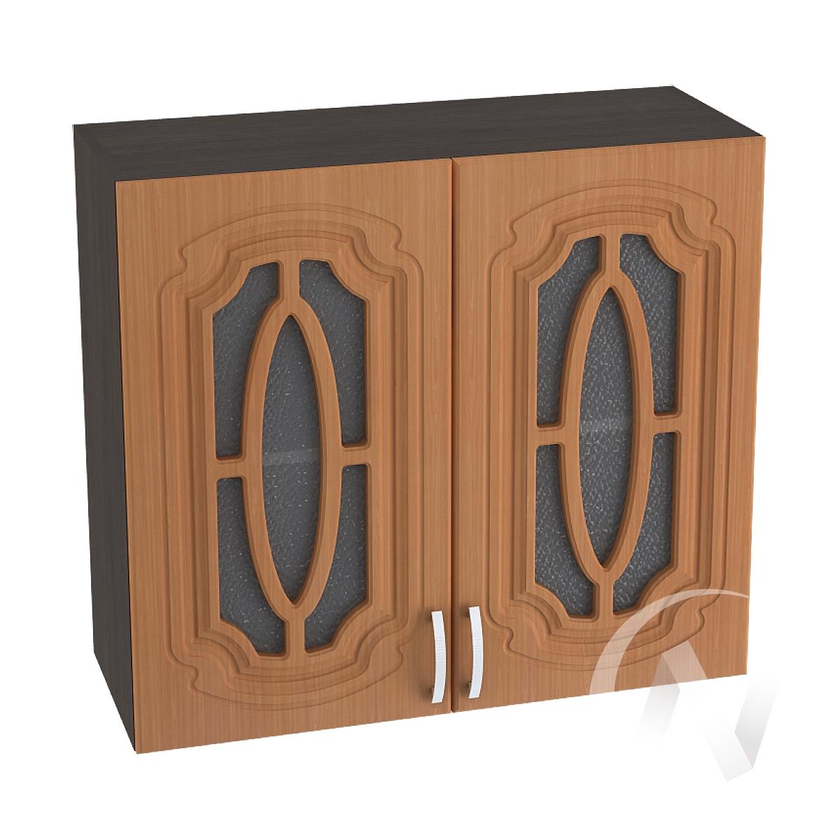 """Кухня """"Настя"""": Шкаф верхний со стеклом 800, ШВС 800 (Орех миланский/корпус венге)"""