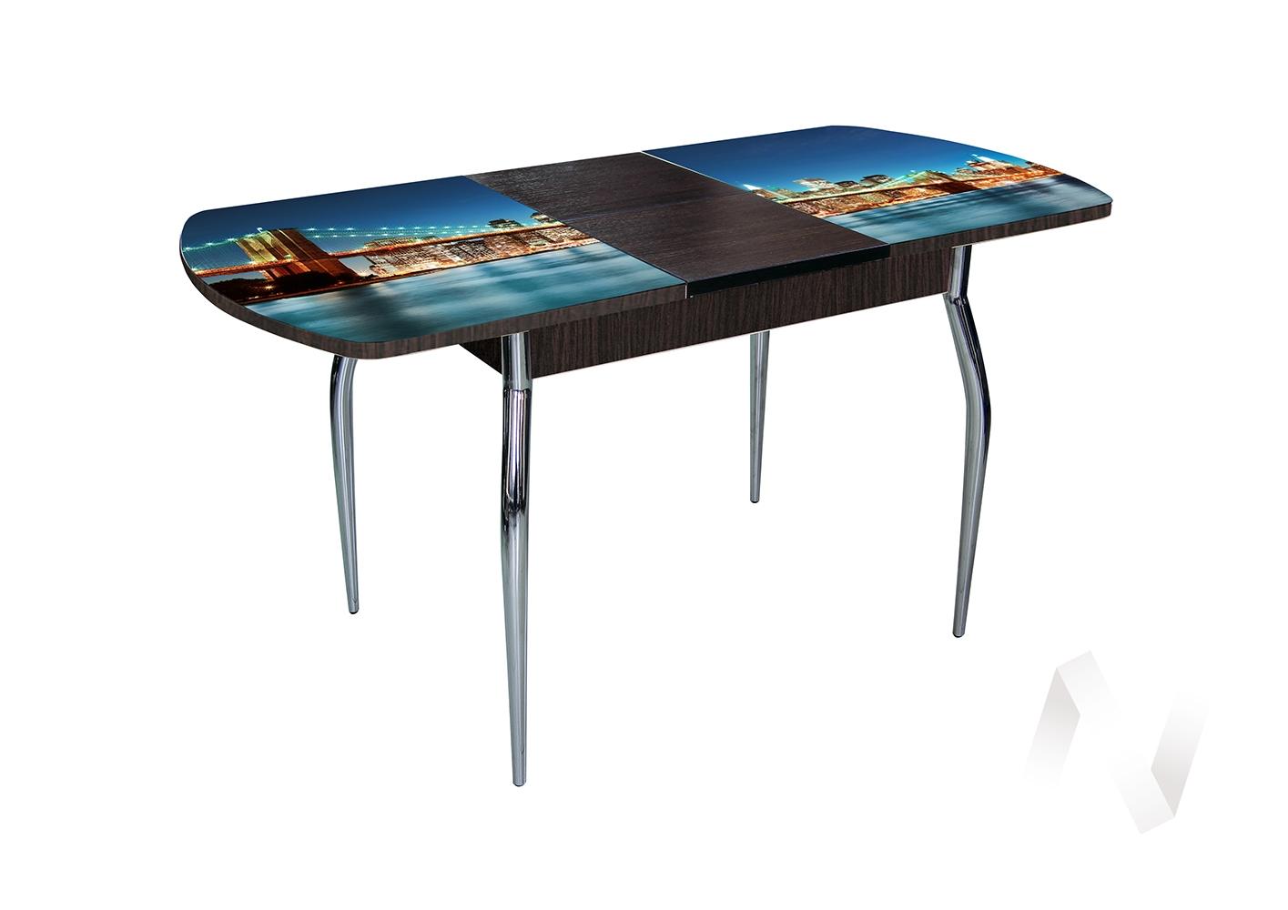 Стол раздвижной Asti-Foto1 (венге/стекло №15)  в Томске — интернет магазин МИРА-мебель