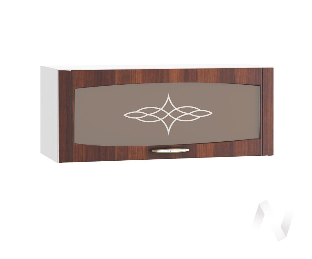 """Кухня """"Неаполь"""": Шкаф верхний горизонтальный со стеклом 800, ШВГС 800 (Италия/корпус белый)"""