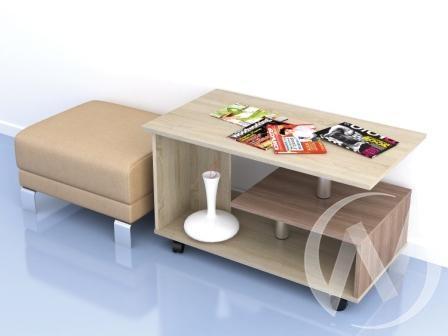 Стол журнальный Консул-5 (дуб сонома/ясень шимо)