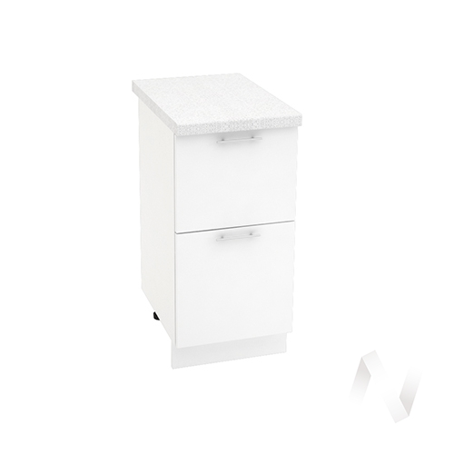"Кухня ""Валерия-М"": Шкаф нижний с 2-мя ящиками 400, ШН2Я 400 (белый глянец/корпус белый)"