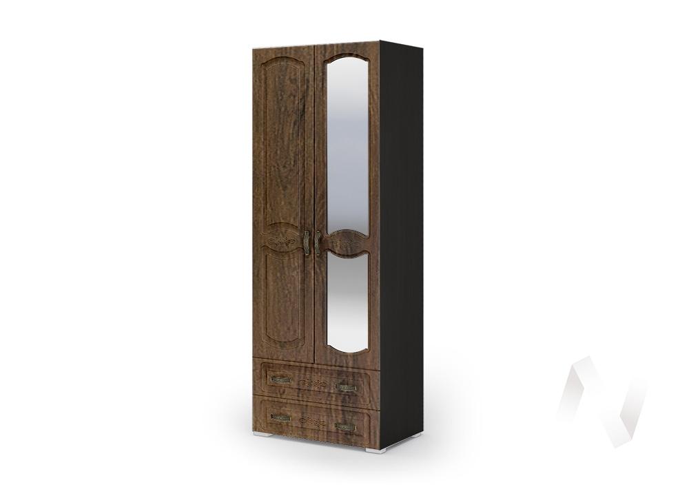 Шкаф 2-х ств ШК 042 Спальня Медина (венге/дуб санремо шоколад)