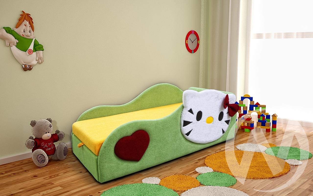 Беби-Котенок кровать детская правый  в Томске — интернет магазин МИРА-мебель