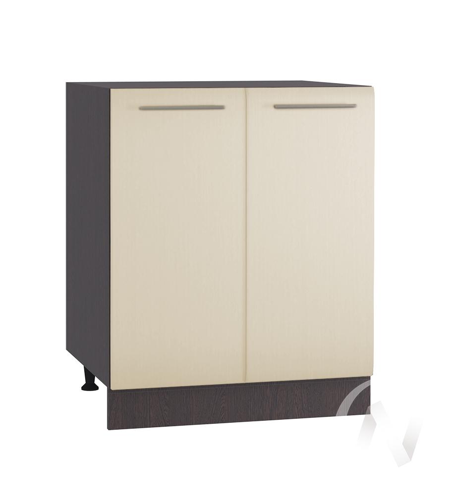 """Кухня """"Люкс"""": Шкаф нижний 600, ШН 600 (Шелк жемчуг/корпус венге)"""