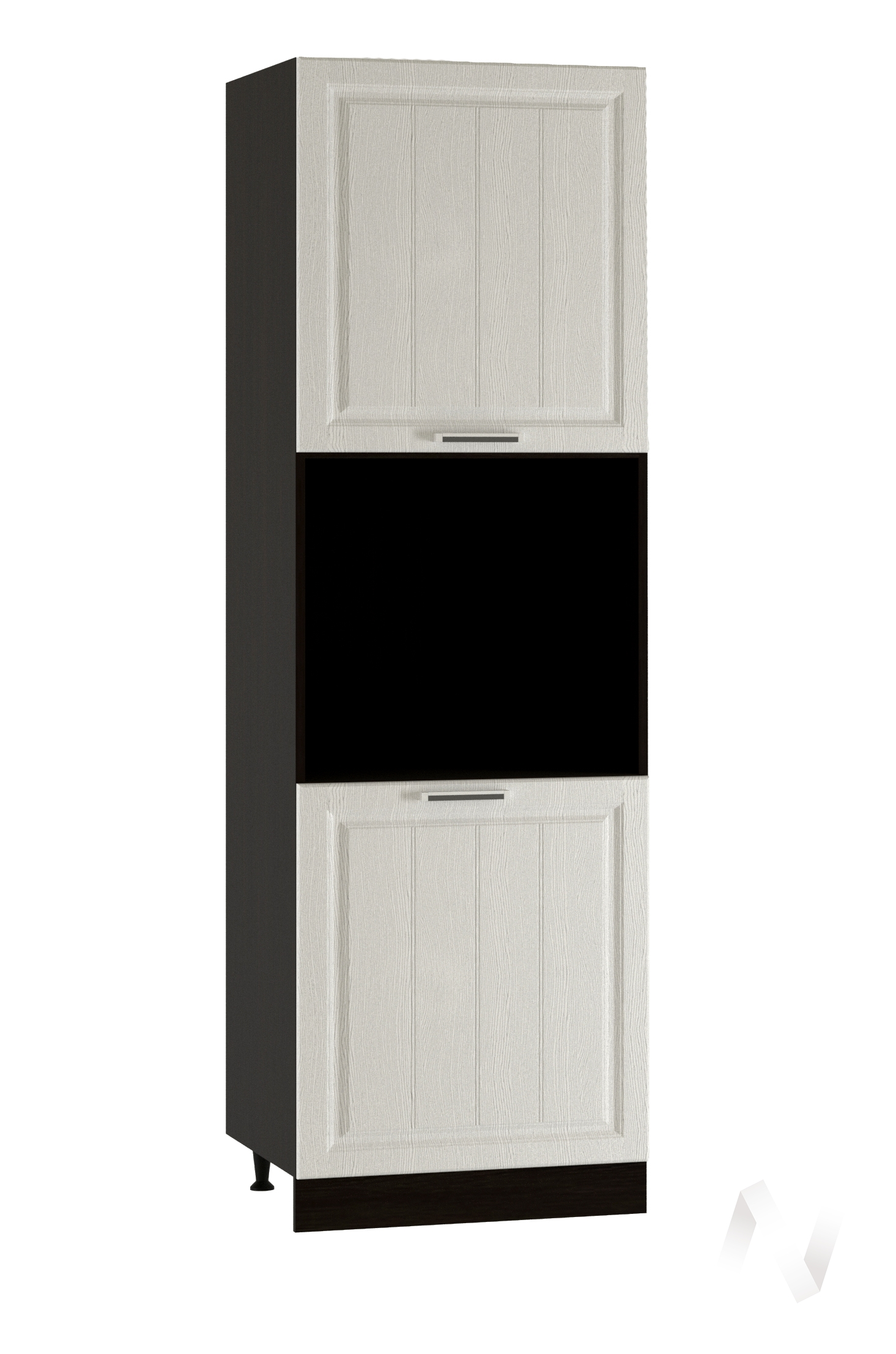 """Кухня """"Прага"""": Шкаф пенал 600, ШП 600 (белое дерево/корпус венге)"""