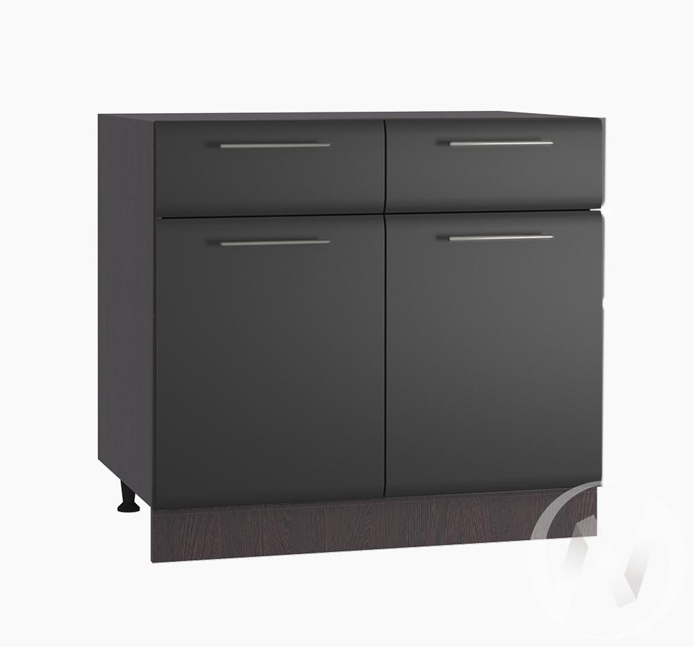 """Кухня """"Люкс"""": Шкаф нижний с ящиками 800, ШН1Я 800 (Шелк венге/корпус венге)"""