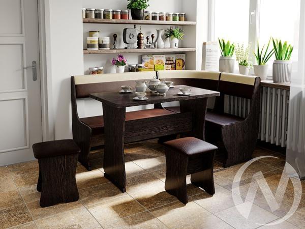 Кухонный уголок Уют-1 универсал (венге/шоколад,беж)