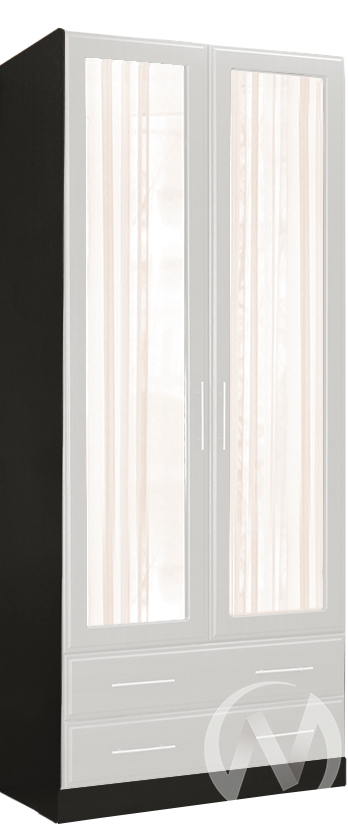 Палермо Шкаф 2х створчатый с ящиками (венге-белый дым)