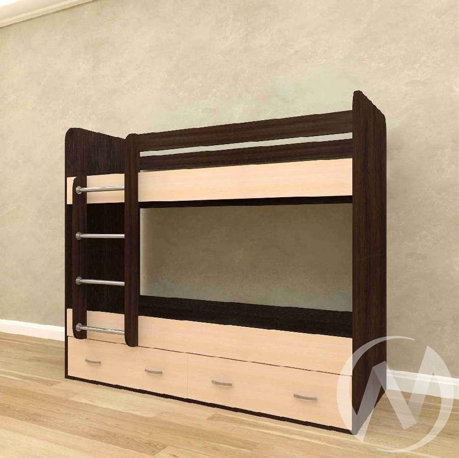Кровать 2-х ярусная с ящиками б/м (венге тёмный-дуб выбеленный)  в Томске — интернет магазин МИРА-мебель