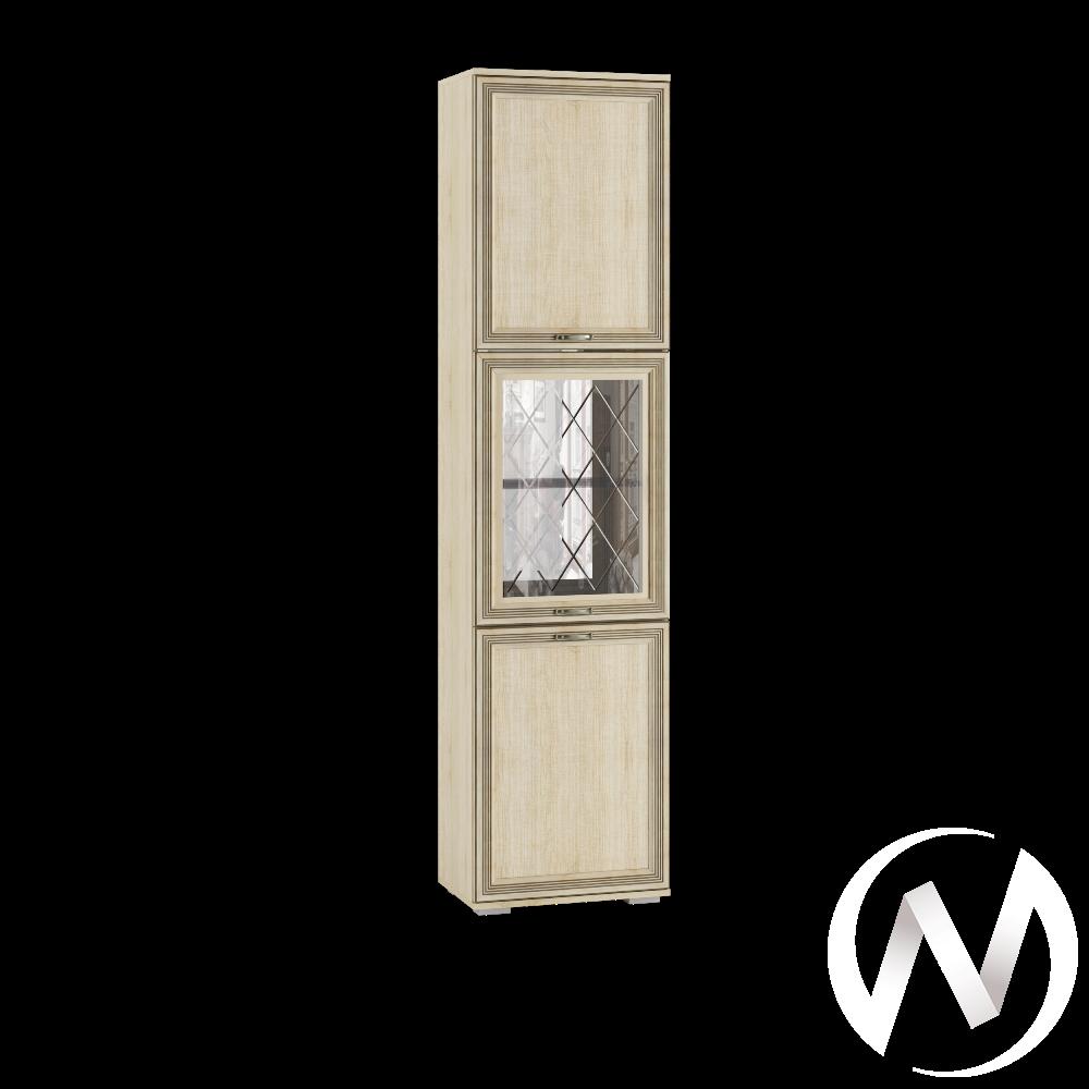 Пенал с витриной ЛШ-5 Гостиная Ливорно (дуб сонома)