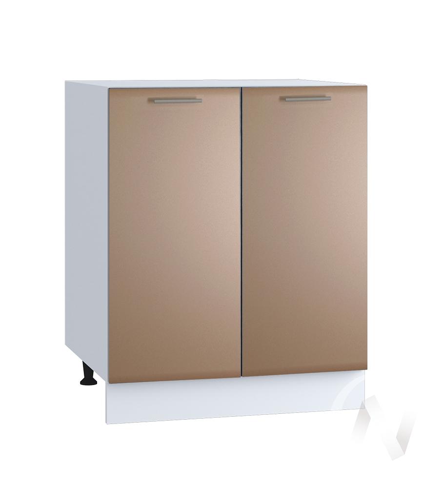 "Кухня ""Люкс"": Шкаф нижний 600, ШН 600 (Шоколад матовый/корпус белый)"